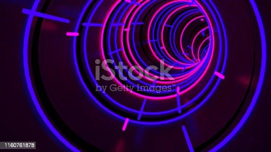 istock Running In Neon Light Circle Tunnel 00003 1160761878