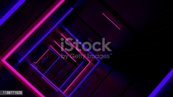 istock Running In Neon Light Tunnel 02 1159771525