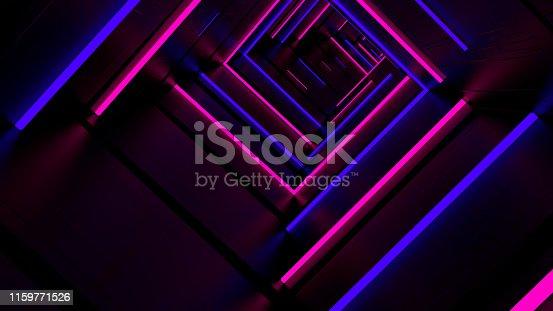 istock Running In Neon Light Tunnel 04 1159771526