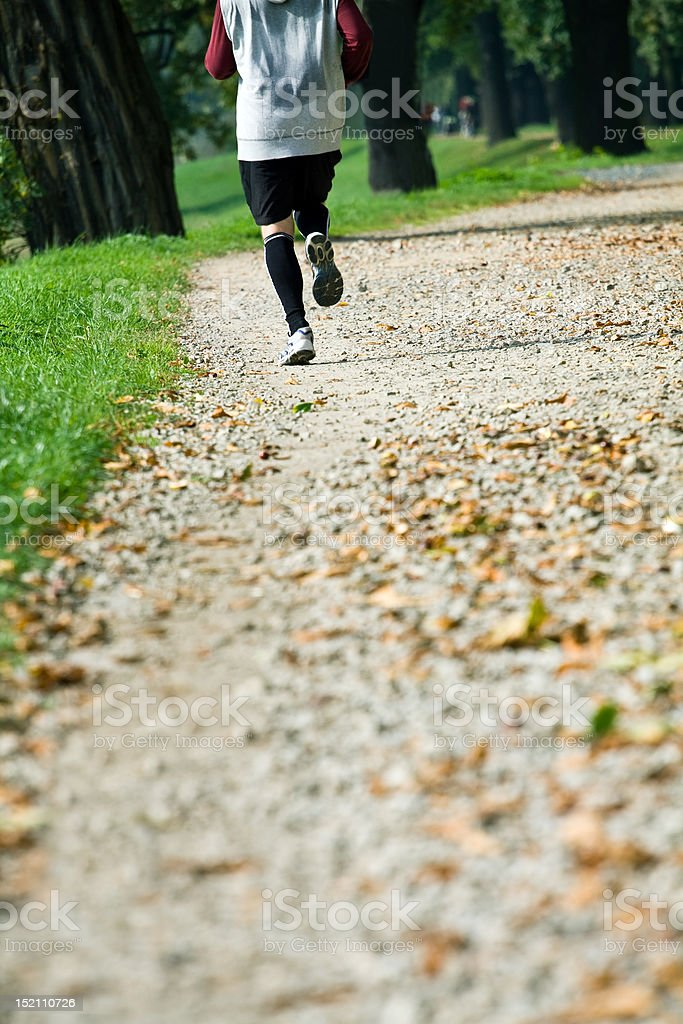 Running in park royalty-free stock photo