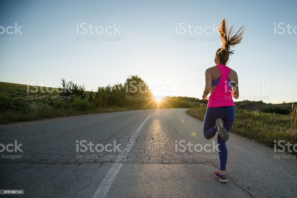 Running in the name of freedom stock photo