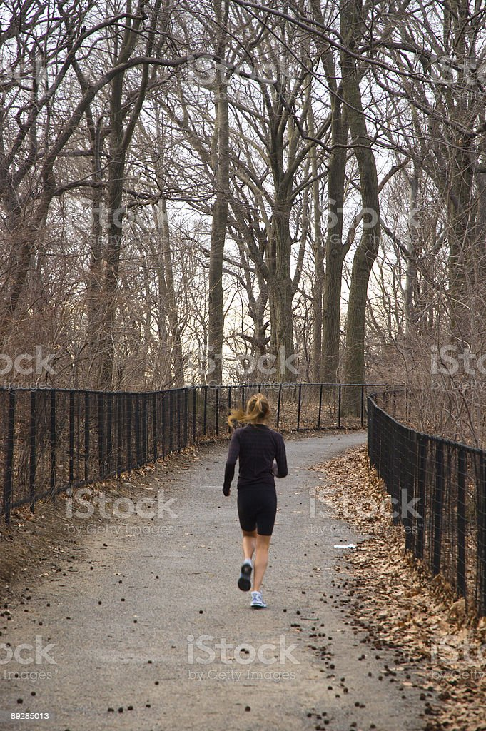 Running in the park stock photo