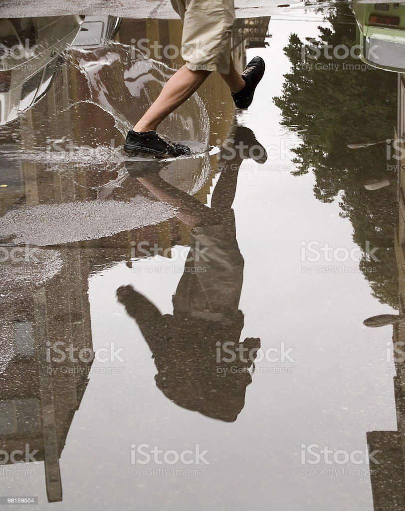 Running in the water royalty-free stock photo