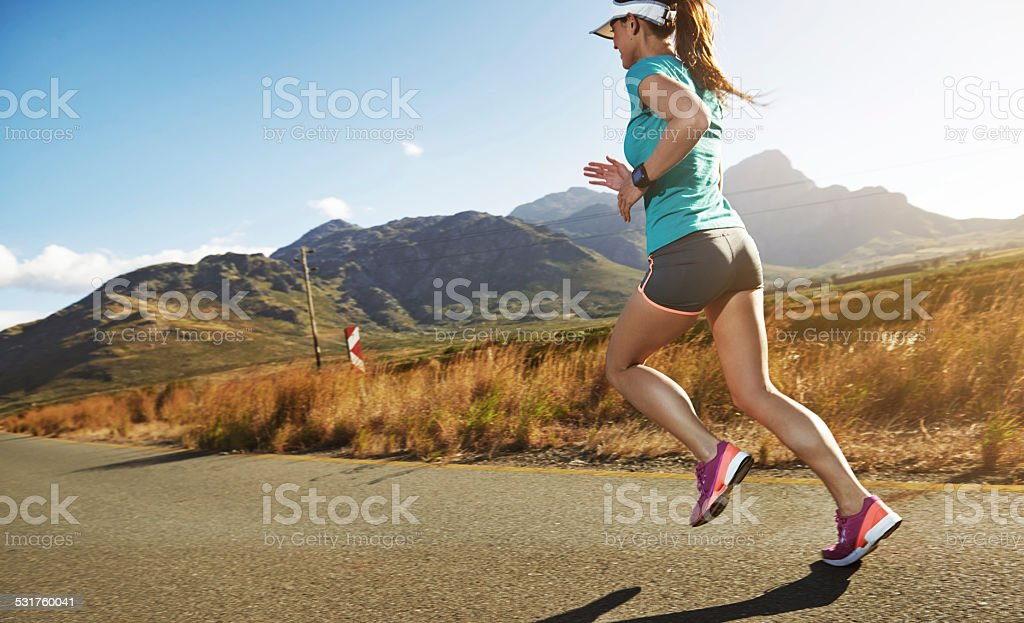 Running is cheaper than therapy stock photo