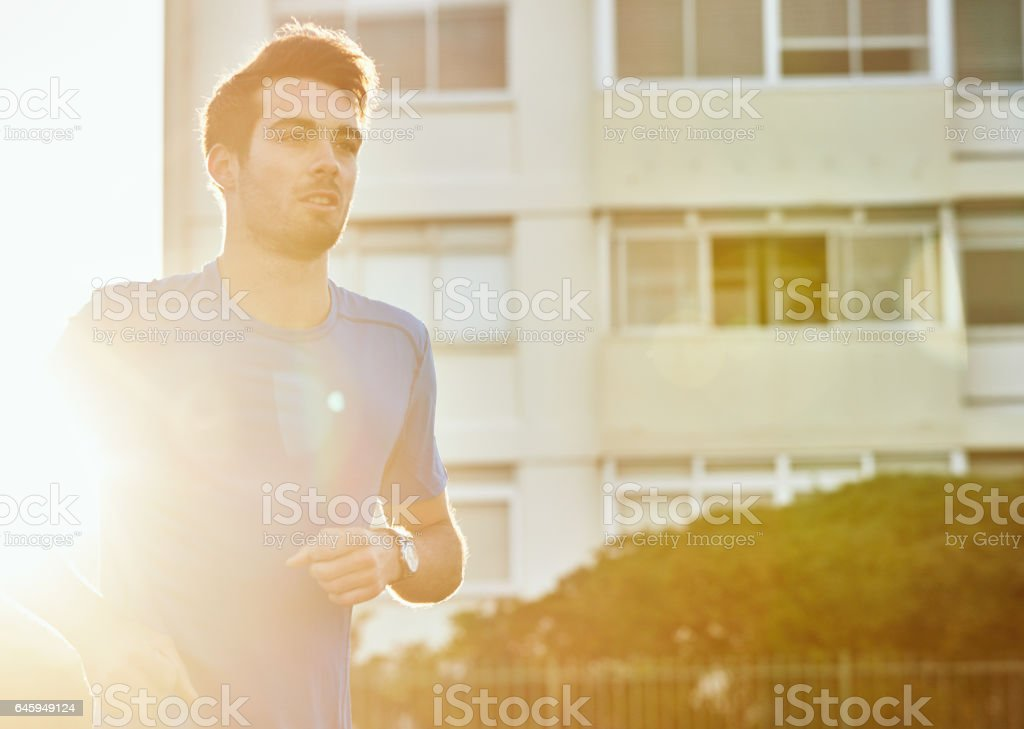 Running is good for your heart stock photo