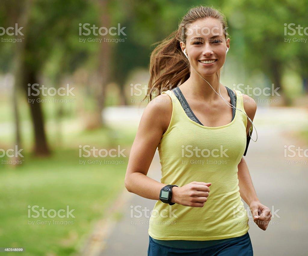 Running is great cardio stock photo
