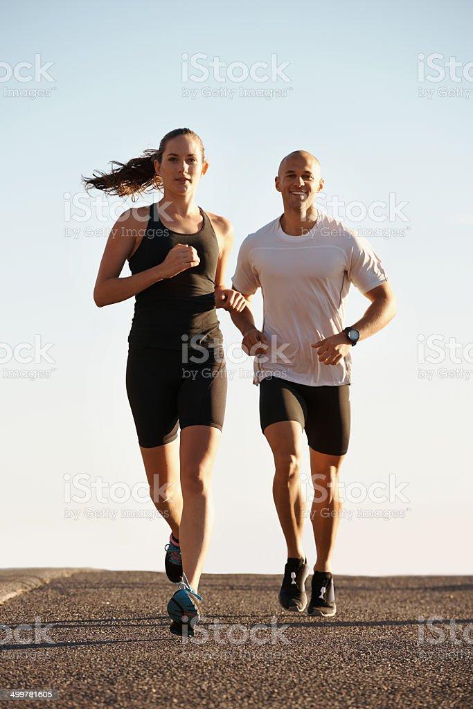 Running is it's own reward stock photo