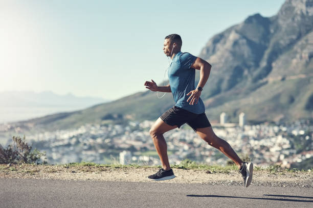 Running is one of the best ways to stay fit stock photo