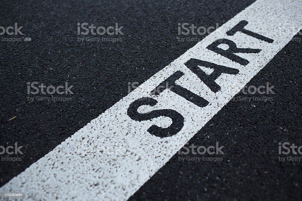 Running lane stock photo