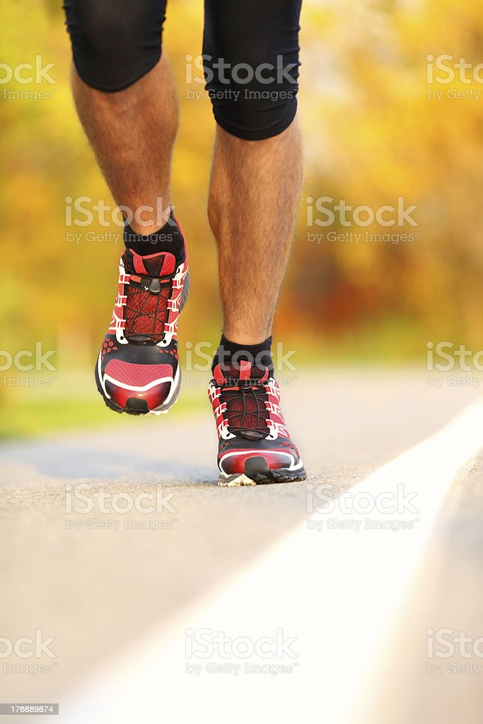 Running - male runner closeup royalty-free stock photo