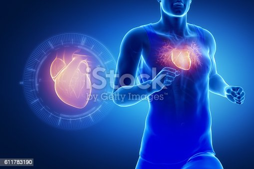 istock Running man focused on heart 611783190