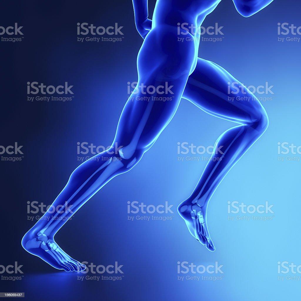 Fotografía de Hombre Corriendo Piernas Con Visibel Los Huesos y más ...