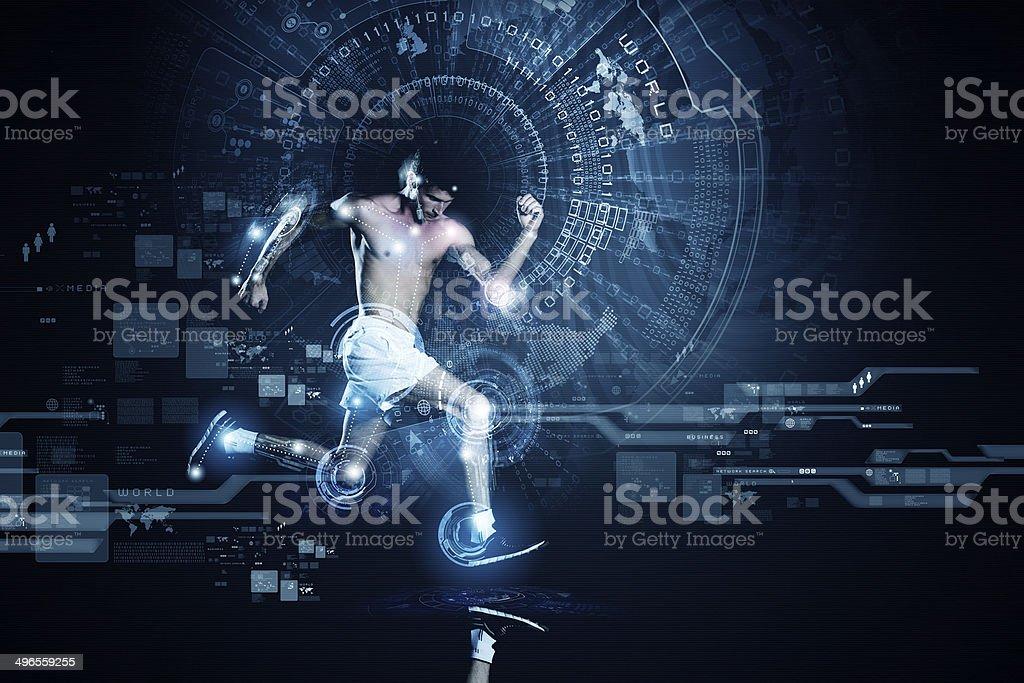 Running man royalty-free stock photo