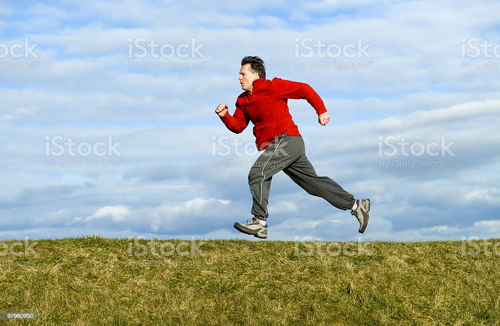 Running man. royalty-free stock photo