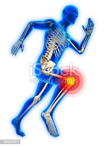 istock Running man with knee injury 184331977