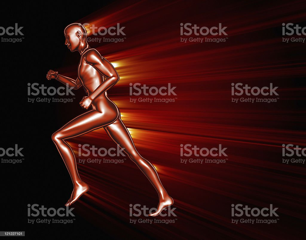 Running man. XXXL background royalty-free stock photo