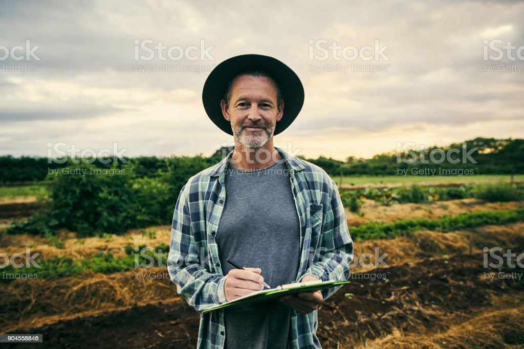 Running my farm with precision stock photo