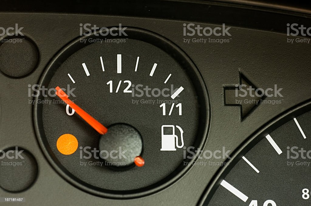 Running on Empty royalty-free stock photo