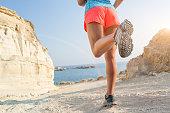 istock Running on seaside path. 492041550