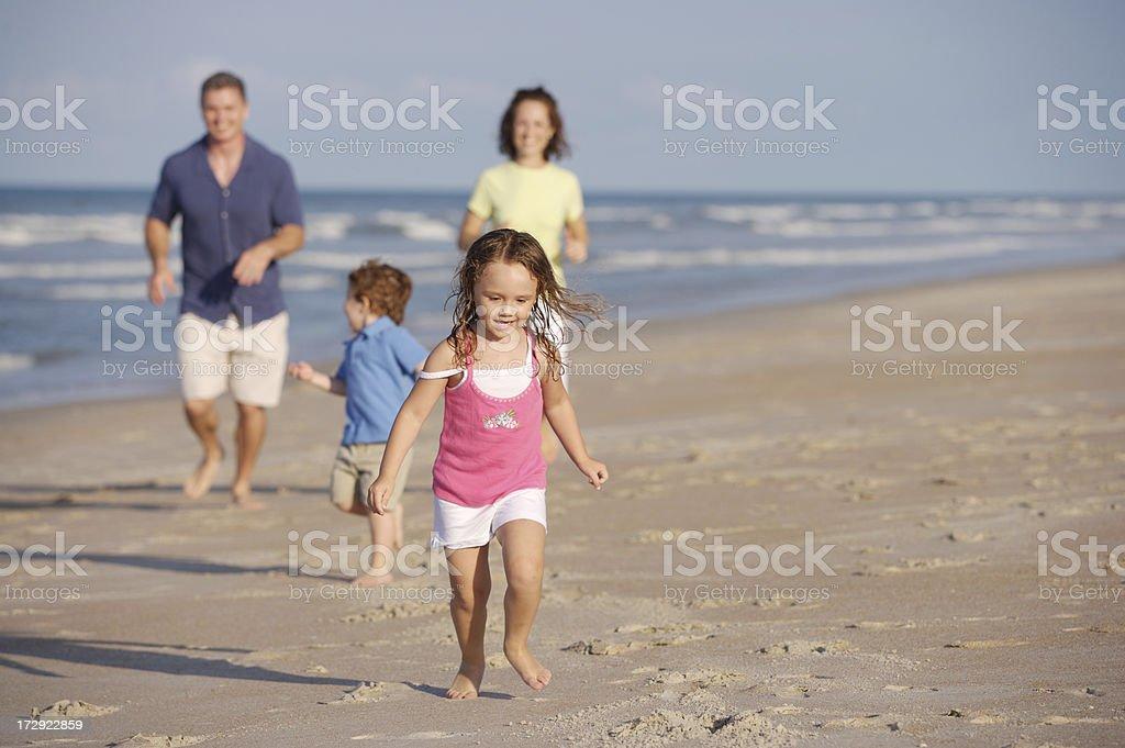 Running on the beach royalty-free stock photo