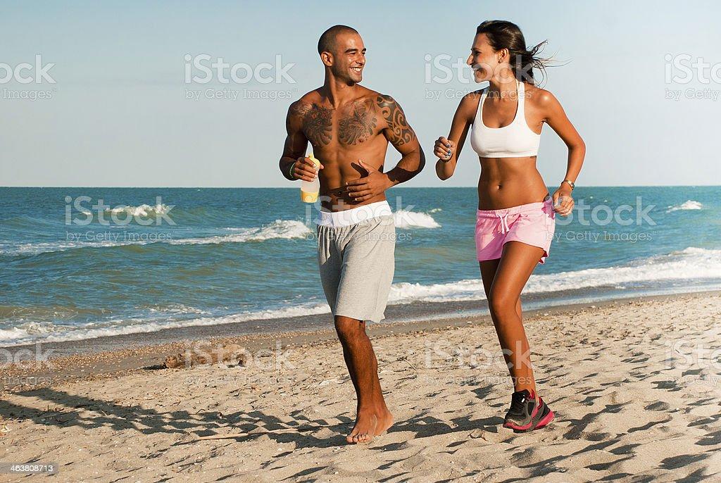 Running am Strand – Foto