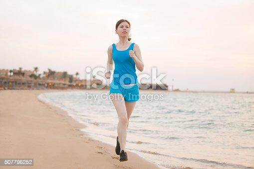 638628530 istock photo Running on the sea shore 507796252
