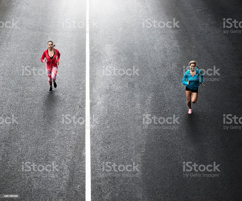 Running on the streets royalty-free stock photo