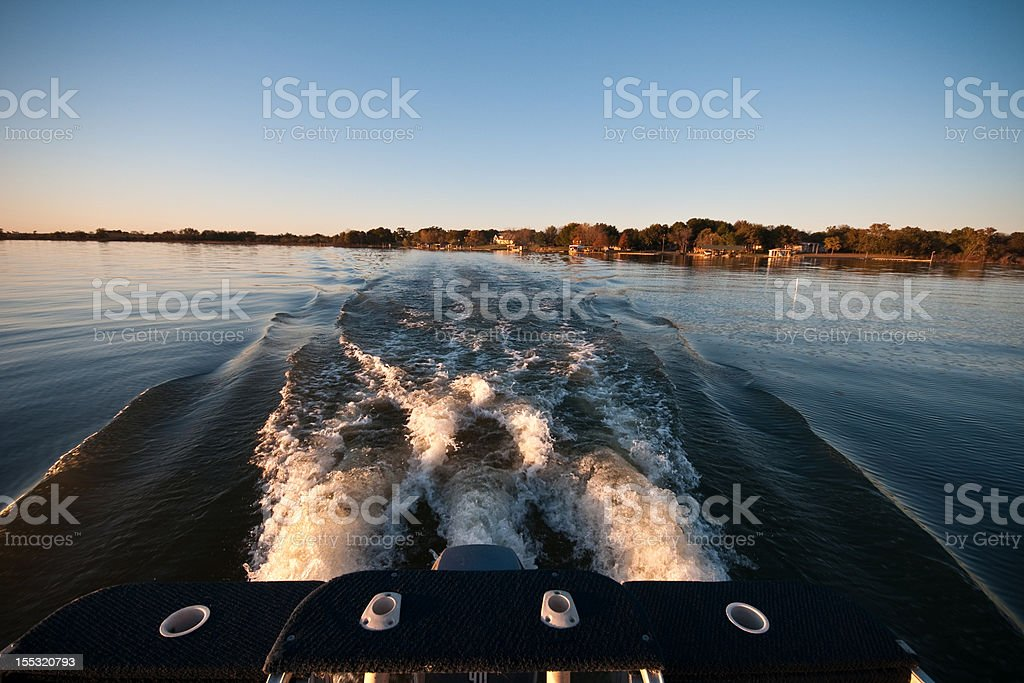 running on the water stock photo