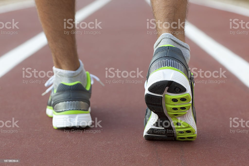 Running on track. stock photo