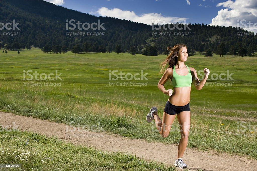 Running On Trail stock photo