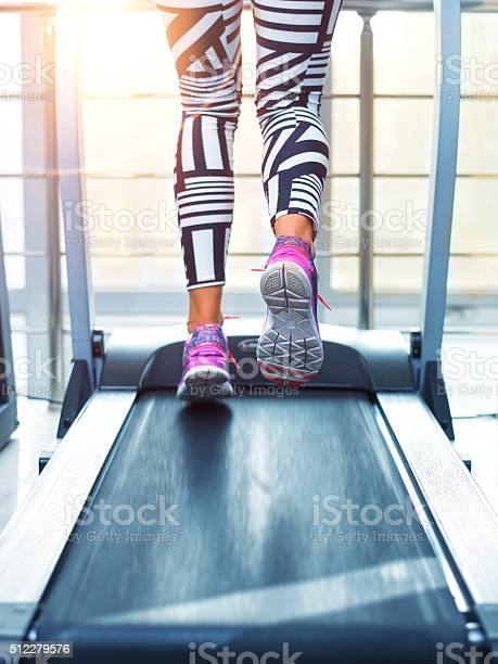 Running On Treadmill Stock Photo - Download Image Now