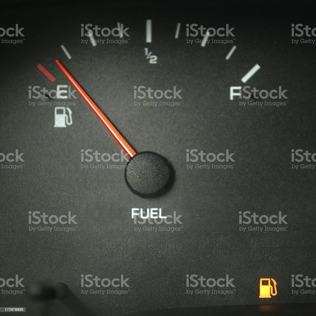 Running Out of Gas royalty-free stock photo