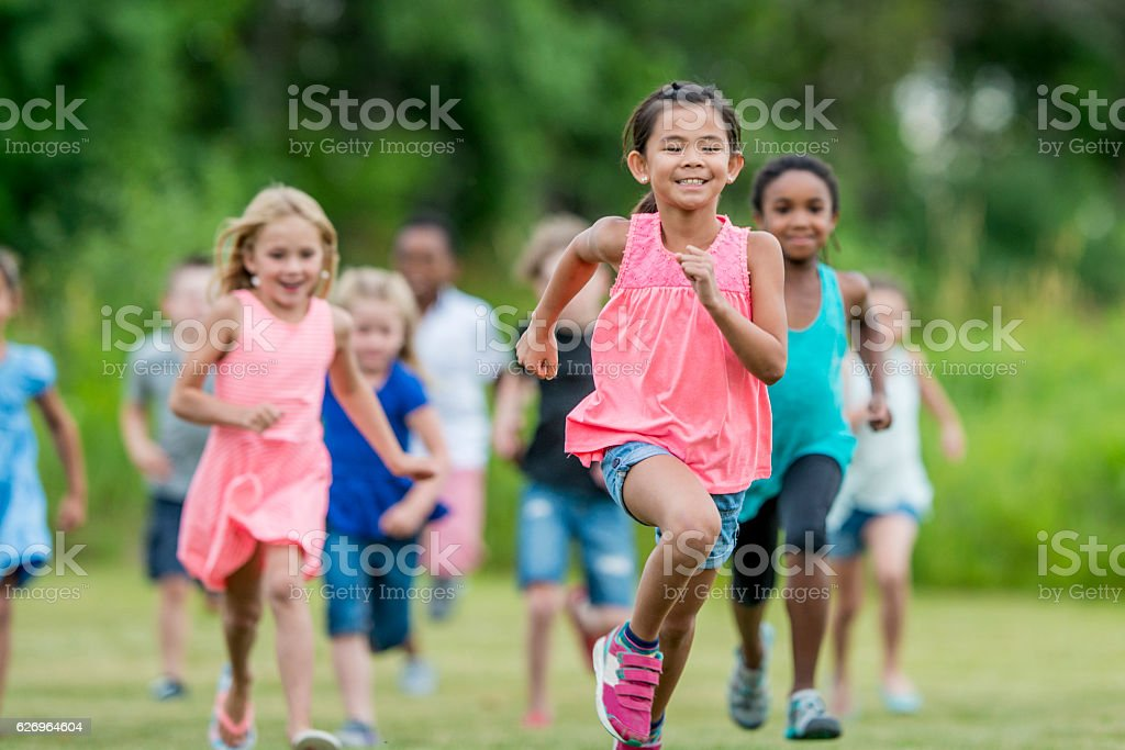 Running Outside During Recess​​​ foto