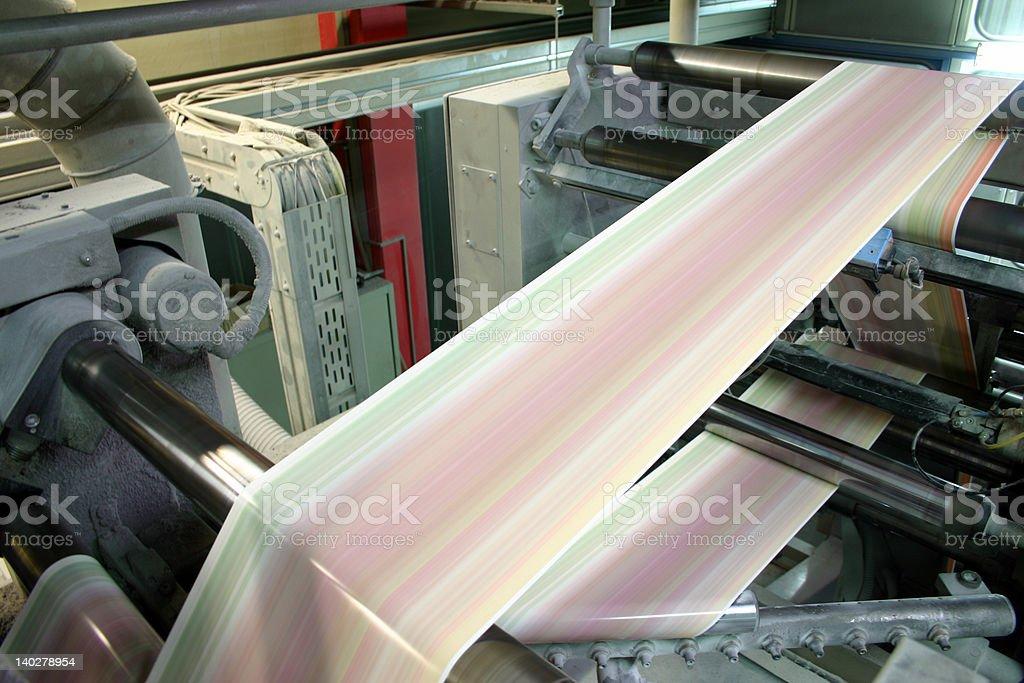 Running Paper stock photo