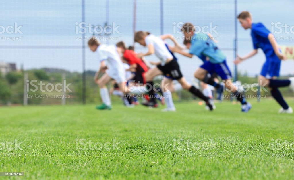 Running Running, football training on sports venue Activity Stock Photo