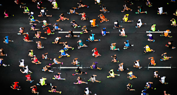 running - marathon stock photos and pictures