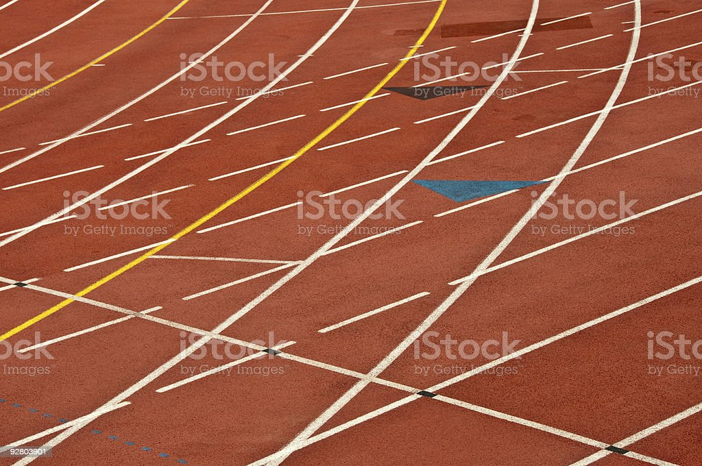 Running race track stock photo