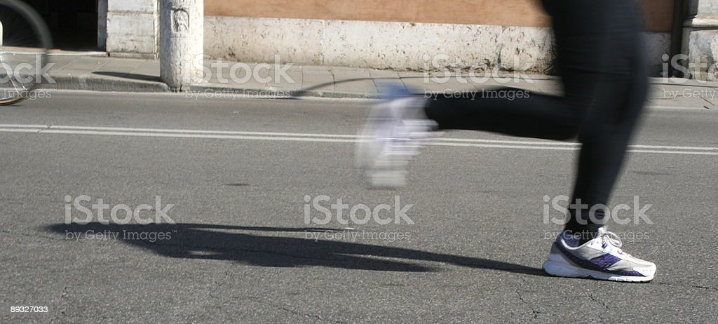 Running shadow royalty-free stock photo