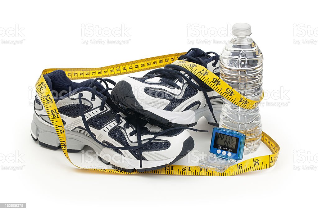 Running Shoe Fitness Isolated royalty-free stock photo