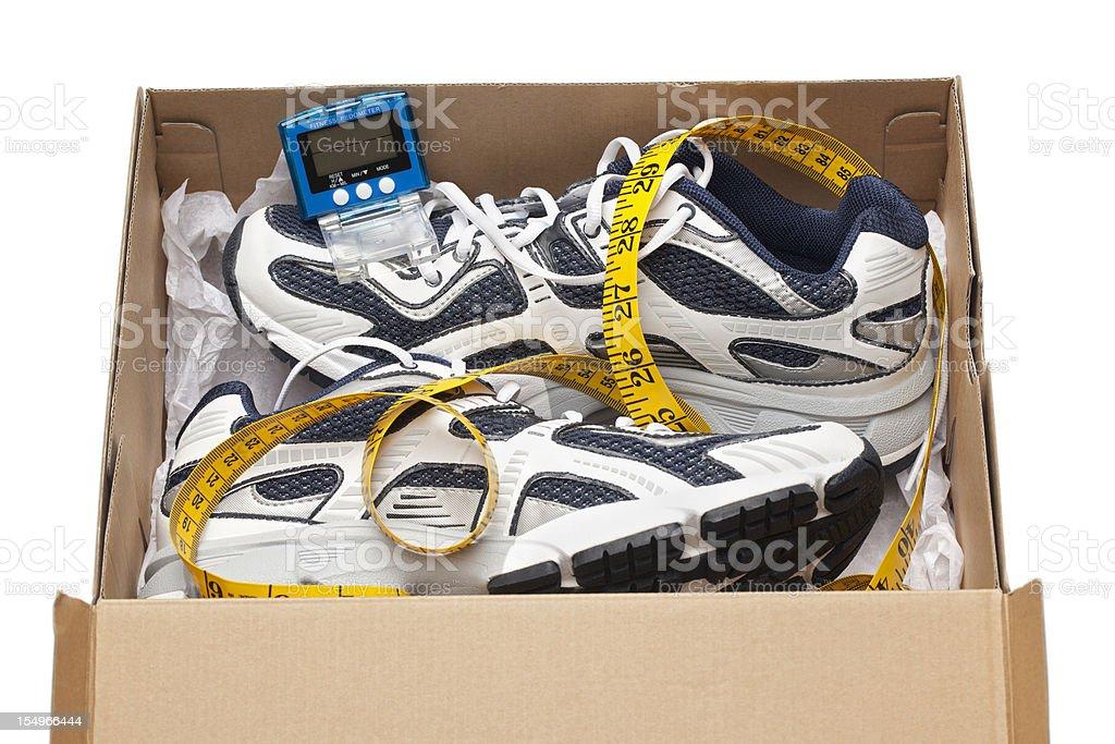 Running Shoe Fitness royalty-free stock photo