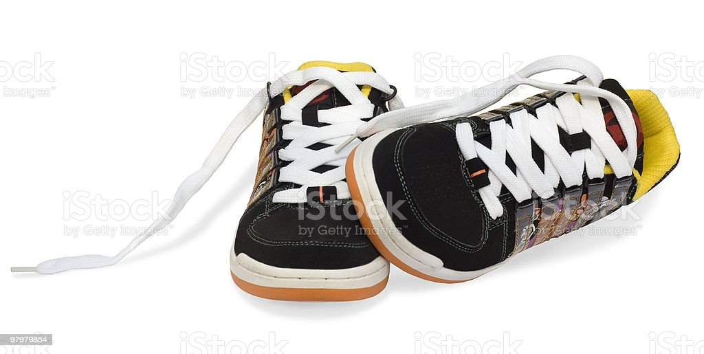 running shoes isolated on white background royalty-free stock photo
