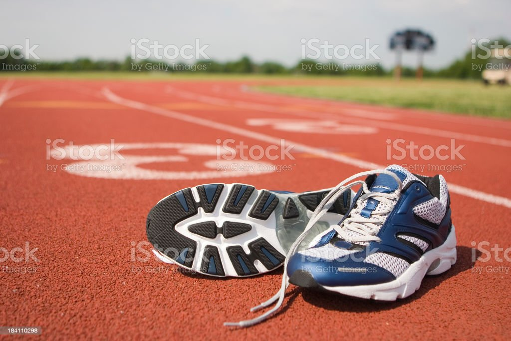 Running Shoes on Track III stock photo