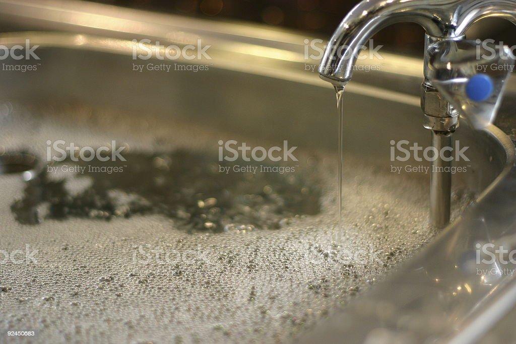 running sink stock photo