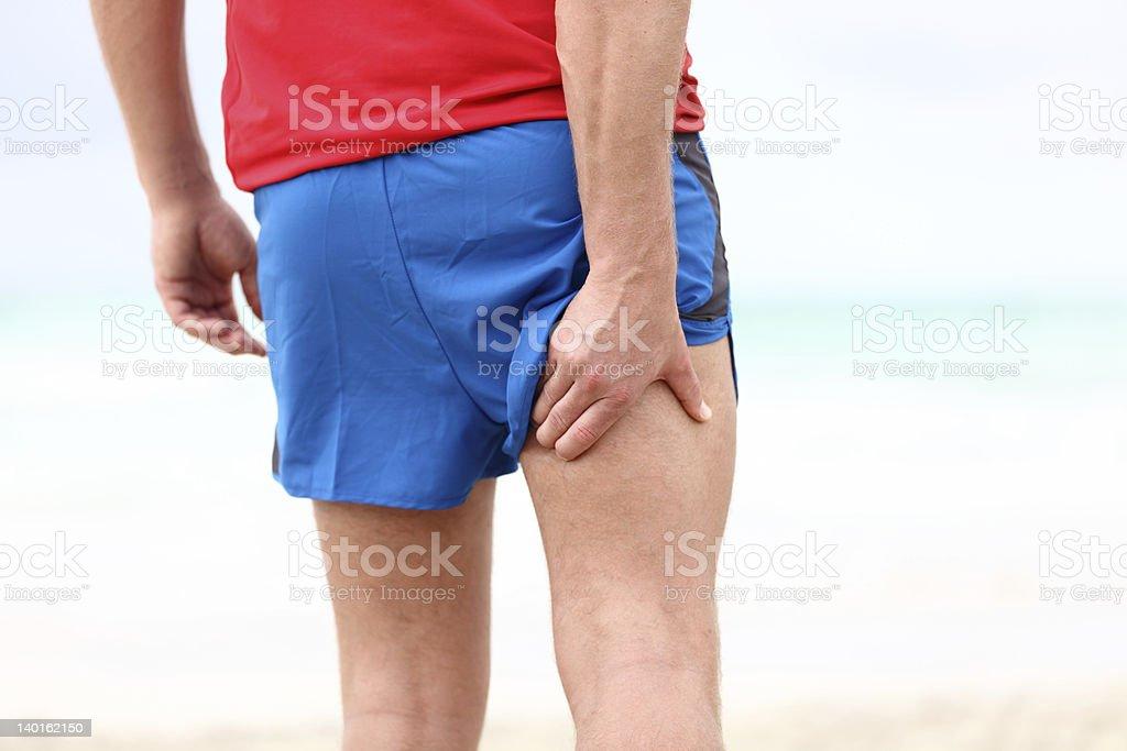 Running sports injury stock photo