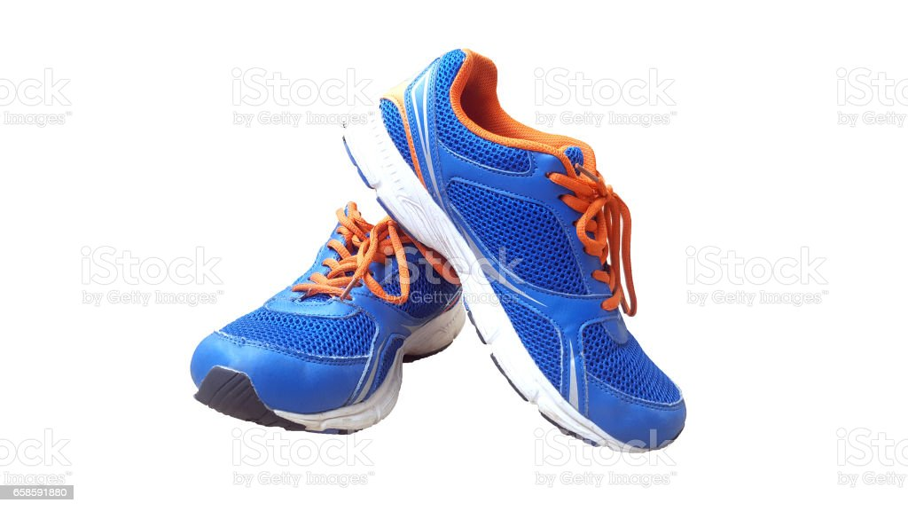 Running sports shoes stock photo