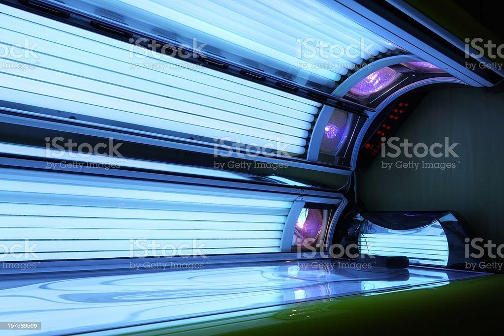 running tanning bed stock photo
