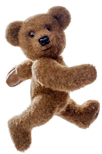 Running Teddy Bear stock photo