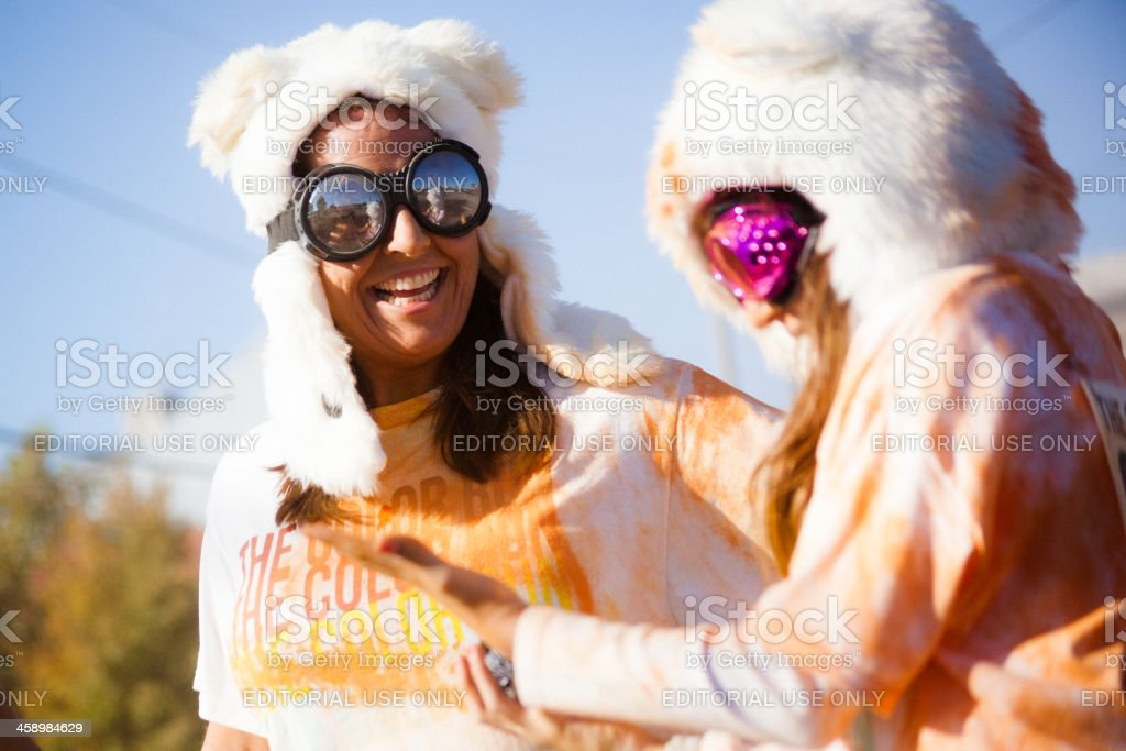 Running The Color Run 2012 in Nashville royalty-free stock photo