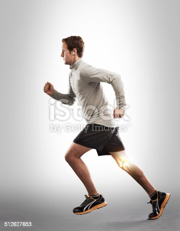 512698489 istock photo Running through the pain and inflammation 512627653