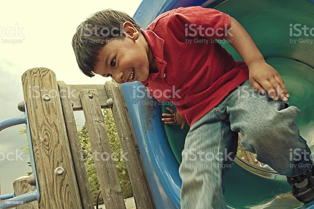 running through the playground royalty-free stock photo